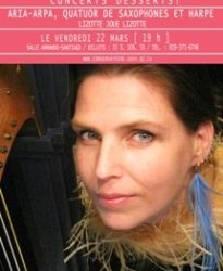 Lizotte plays Lizotte :: Aria Arpa :: Trois-Rivières Conservatory of Music
