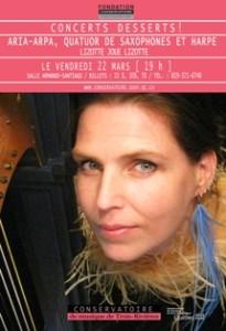 Lizotte joue Lizotte :: Aria Arpa :: Conservatoire de Musique de Trois-Rivières
