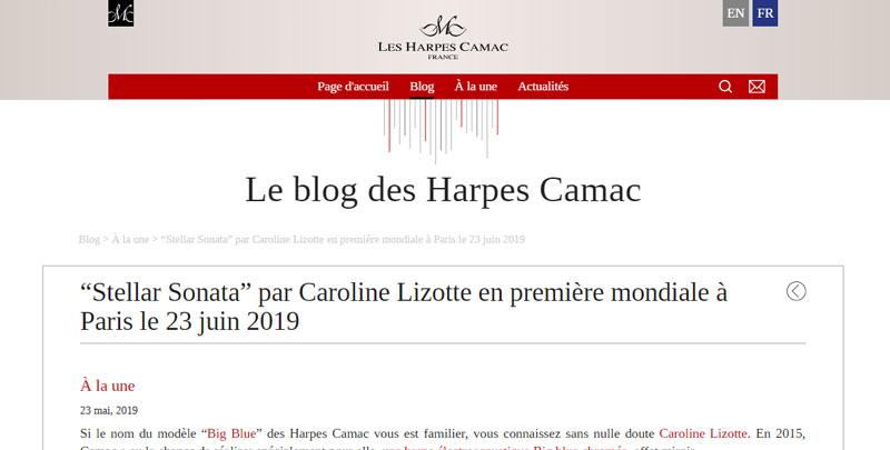 Interview chez Camac en vue de la création de la sonate en France